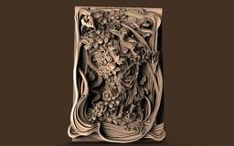 Модели для архитектурноакустического дизайна интерьера, 3D иллюстрации, художник, текстура, графический дизайн, архитектура, иллю стоковые фотографии rf