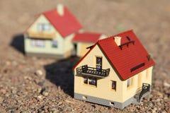 модели малые 2 домов Стоковые Фото