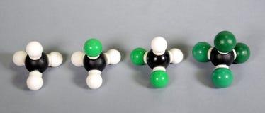 Модели метана с различными рангами замещения стоковая фотография