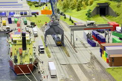модельная гаван станция моря железной дороги Стоковые Изображения