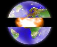модельная планета Стоковая Фотография