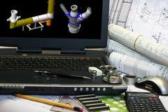 модельное просмотрение 3d Стоковое Изображение RF