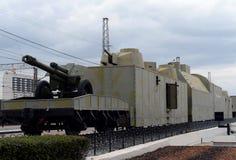 Модельное ` работника Тулы ` 13 armored поезда на железнодорожном вокзале Стоковое Изображение RF