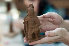 модельное terracota воина Стоковая Фотография
