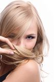 модельно shy Стоковое Изображение RF