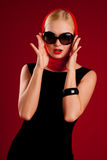 модельные сексуальные солнечные очки Стоковое Изображение RF