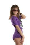 модельные солнечные очки молодые Стоковые Изображения