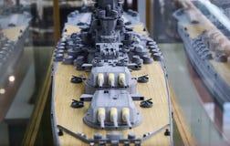 Модельный корабль Второй Мировой Войны стоковое фото