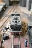 модельный поезд пара Стоковая Фотография RF