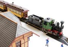 модельный поезд станции Стоковое Фото