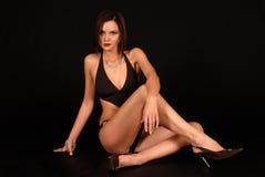 модельный swim костюма всхода фото Стоковая Фотография