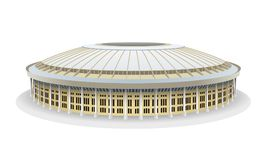 Модель вектора футбольного стадиона Luzhniki в Москве Стоковое Изображение