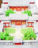 модель двора стоковые изображения