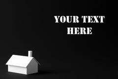 модель дома предпосылки черная Стоковое Изображение