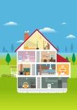 модель дома Стоковые Изображения