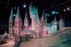 Модель замка Hogwarts стоковое изображение