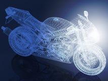 модель иллюстрации bike 3d Стоковое Фото