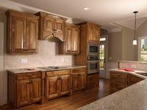 модель клена кухни 2 домов роскошная Стоковые Изображения