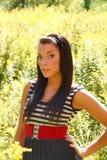 модель красивейших волос длинняя Стоковые Фотографии RF
