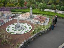 Модель-макет города в Canarias, Испании стоковые фотографии rf