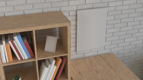 Модель-макет календаря стены в интерьере иллюстрация вектора