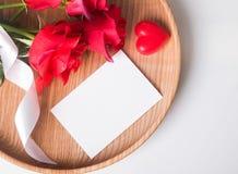 Модель-макет карточки дня ` s валентинки Стоковое Изображение