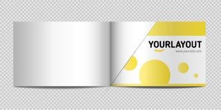 Модель-макет каталога A4, горизонтальный Объявление иллюстрации вектора иллюстрация штока