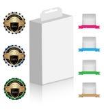 Модель-макет коробки продукта с элементами конструкции Стоковые Фотографии RF