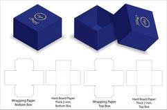 Модель-макет коробки 3d бумаги твердой волокнистой плиты твердый с dieline бесплатная иллюстрация