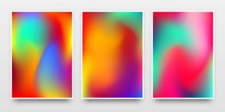 Модель-макет плакатов с живыми предпосылками градиента цвета Стоковая Фотография RF