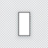 Модель-макет смартфона на прозрачной предпосылке иллюстрация вектора