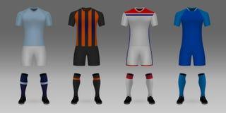 Модель-макет формы футбольной команды бесплатная иллюстрация