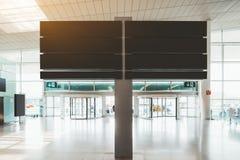 Модель-макет шильдика информации в аэропорте стоковые изображения