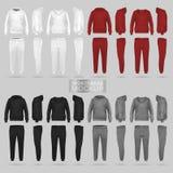 Модель-макет hoodie и брюк sportswear в 4 размерах стоковые изображения rf
