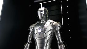 Модель Марк 2 человека утюга на опыте мстителей стоковая фотография