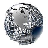 модель металла земли стилизованная Стоковое фото RF