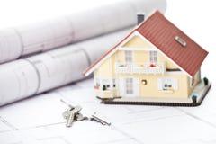 модель миниатюры домашних ключей Стоковые Изображения