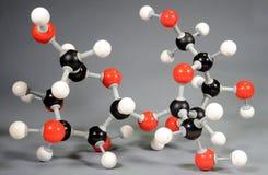 Модель молекулы сахара C12H22O11 стоковое изображение rf
