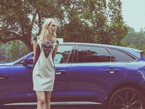 Модель на Salone автоматическом Турине (автосалон Турина) Стоковые Фотографии RF