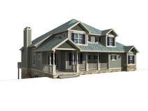 модель одно уровня дома 3d иллюстрация вектора