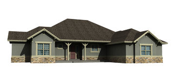 модель одно уровня дома 3d стоковые фотографии rf