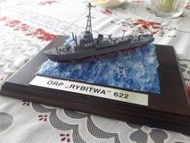 модель пластмассы военного корабля Стоковое Изображение