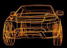 Модель провода автомобиля стоковое фото rf