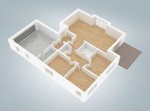 Модель пустой домашней квартиры Стоковые Изображения