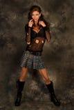 модель темного goth с волосами Стоковая Фотография