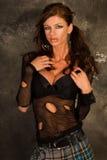 модель темного goth с волосами Стоковые Изображения