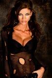 модель темного goth с волосами Стоковые Фотографии RF