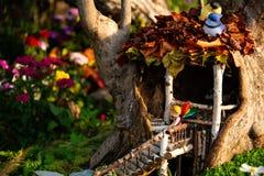 Модель цветка fairy в доме на дереве Стоковое Изображение