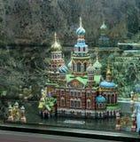 Модель церков спасителя на разлитой крови, России Стоковое Изображение