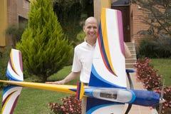 модель человека воздушных судн Стоковые Изображения